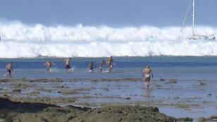 Plage de Krabi,Thaïlande, 26 décembre 2004.