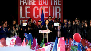 Benoît Hamon, mercredi 19 avril 2017, place de la République à Paris.