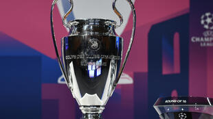 Le trophée de la Ligue des champions, le 16 décembre 2019 à Nyon en Suisse