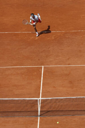 Rafael Nadal au service