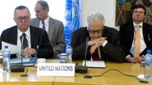 L'émissaire de l'ONU et de la Ligue arabe Lakhdar Brahimi