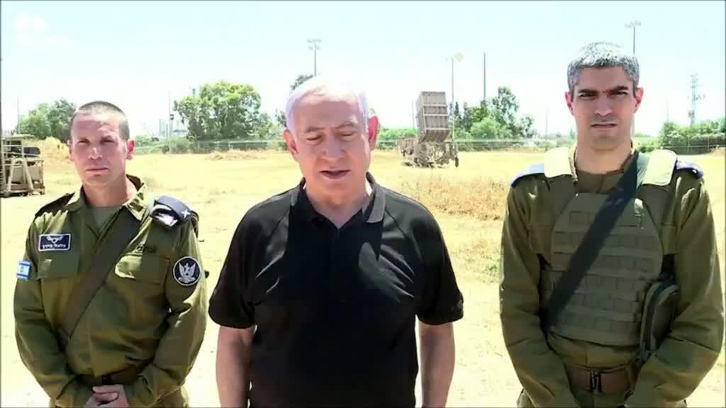 2021-05-13 18:02 Israel's Netanyahu says too soon for truce despite amid troop massing at Gaza border