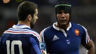 Le capitaine des Bleus, Thierry Dusautoir, et l'ouvreur, Rémi Talès