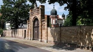 The synagogue in Halle which Stephan Balliet is accused of trying to storm with firearms and explosives during a Yom Kippur ceremony.