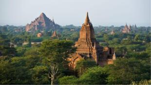Le temple de Dhammayangyi, dans le Bagan, a été endommagé par le séisme.