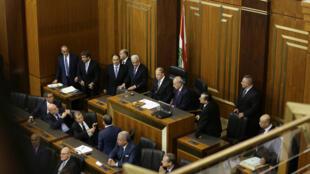 Le président libanais Michel Aoun face au Parlement, le 31 octobre 2016 à Beyrouth.