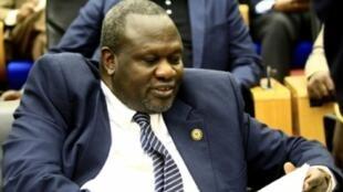 زعيم المعارضة في جنوب السودان رياك مشار في الخرطوم في 30 آب/أغسطس 2018
