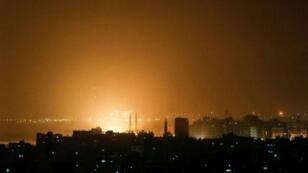 غارات إسرائيلية على غزة، فجر يوم 15 مارس/آذار 2019.
