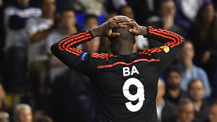 Demba Ba lors d'un match du Besiktas contre Tottenham, le 2 octobre 2014