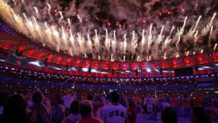 لقطة من حفل ختام دورة الألعاب الأولمبية في ريو دي جانيرو