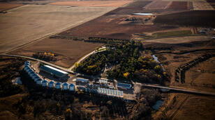 Une ferme située à proximité du tracé du pipeline Keystone XL dans le Dakota du Sud.