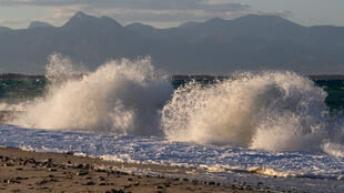 Une vague en Calabre, au sud-ouest de l'Italie.