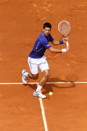 Novak Djokovic à la volée