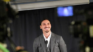 Zlatan Ibrahimovic football press conference statue
