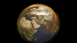 Ilustración de la NASA del nuevo retrato tridimensional del metano, el segundo mayor contribuyente del calentamiento mundial, el 25 de marzo de 2020