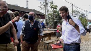 """L'eurodéputé EELV Yannick Jadot lors des """"journées d'été des écologistes"""" à Pantin (Seine-Saint-Denis), le 22 août 2020"""