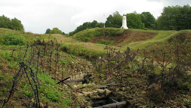 La butte de Vauquois située entre Verdun et l'Argonne