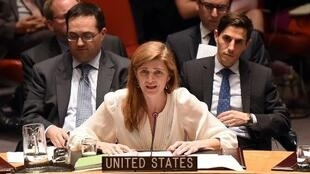 السفيرة الأمريكية في الأمم المتحدة سامنتا باور في 22 كانون الاول/ديسمبر 2014