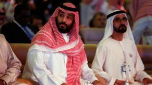 Le prince héritier Mohammed ben Salmane et le Premier ministre émirati Mohammed ben Rashid al-Maktoum, à Riyad.