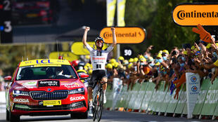 Third time lucky for Marc Hirschi, who won the Tour de France stage 12