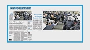 Manifestation contre les restrictions sanitaires en Autriche