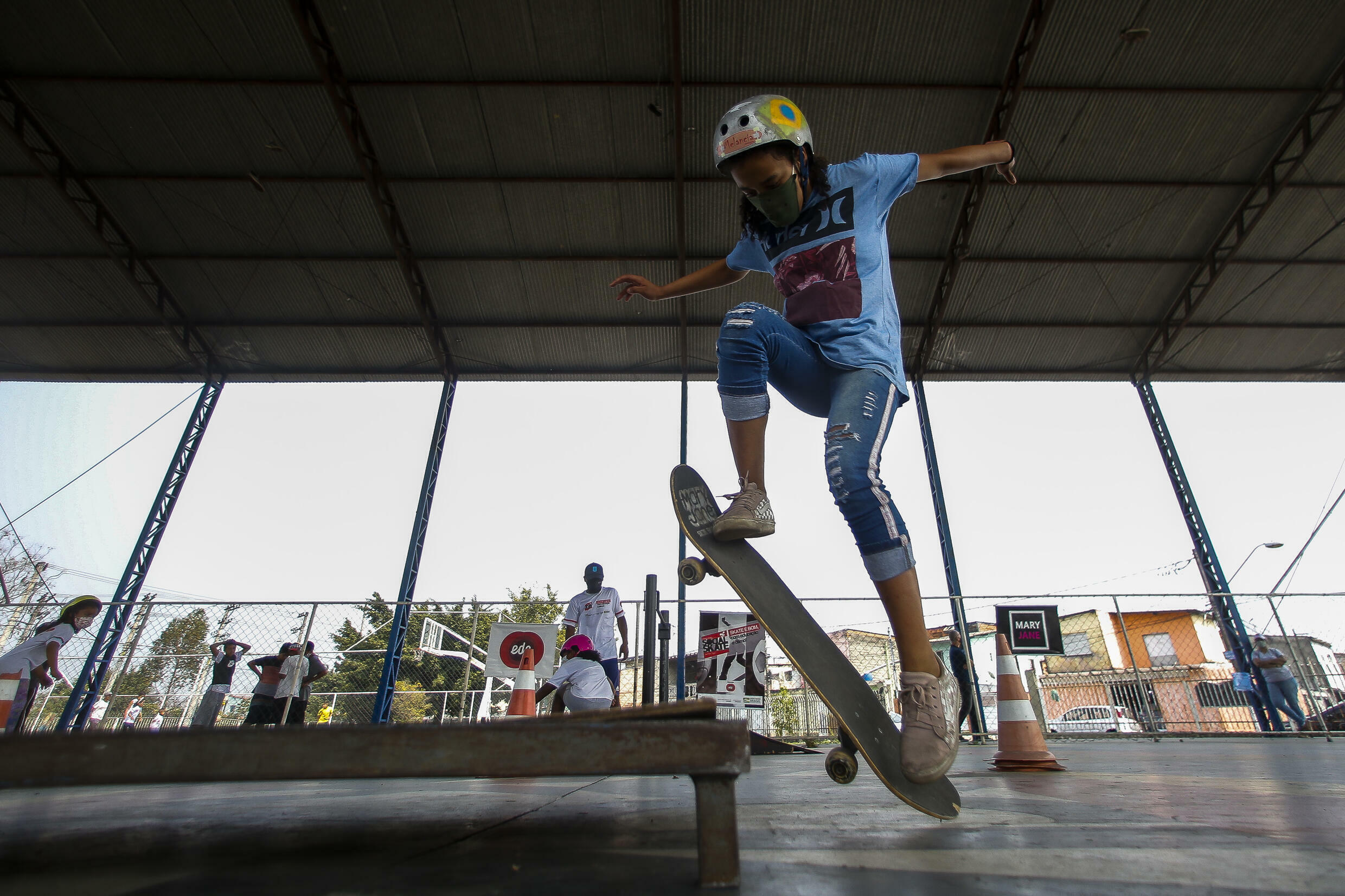 Young girls are embracing skateboarding in Brazil in the wake of the silver medal Olympic performance by their compatriot Rayssa Leal, at age 13