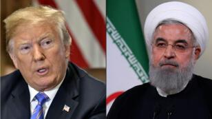 """Donald Trump a estimé que les sanctions américaines rétablies le 6 aôut sont """"les plus dures jamais imposées"""" à l'Iran."""