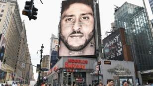 Colin Kaepernick choisi par Nike pour incarner sa denrière campagne de pub le 8 septembre 2018