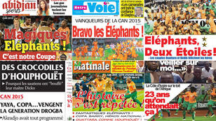 Les Unes des quotidiens ivoiriens ne tarissent pas d'éloges sur les Éléphants.