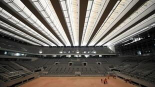 La pista cubierta Philippe Chatrier, la central del torneo de Roland Garros, en una imagen del 27 de mayo de 2020
