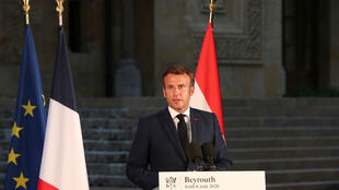Macron Beirut press conference