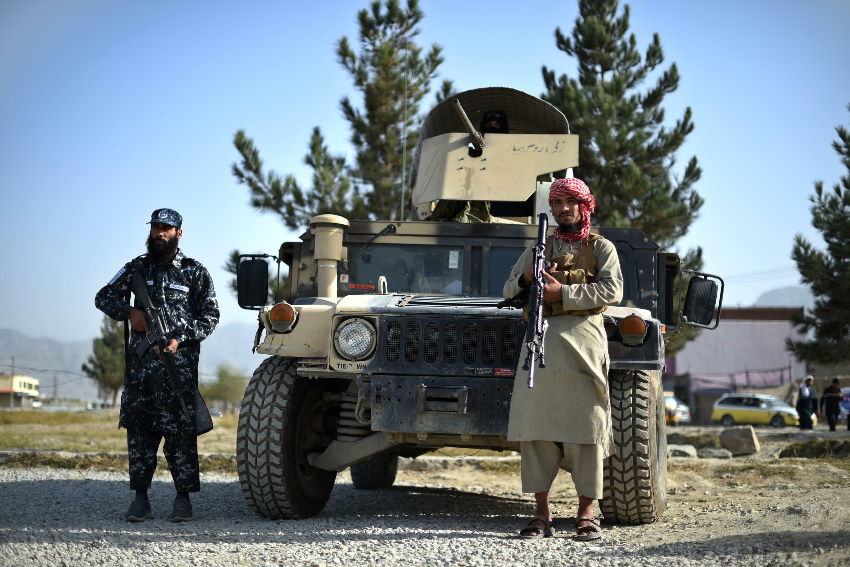مقاتلون من طالبان في كابول