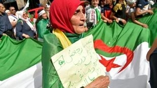 محتجون في العاصمة الجزائرية في 07 حزيران/يونيو 2019