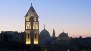Les toits de Jérusalem, ville sainte des trois religions monothéistes.