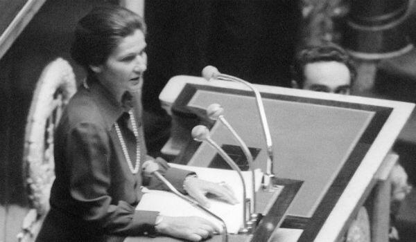 The health minister addresses France's National Assembly on November 26, 1974, defending her bill to legalise abortion in France.