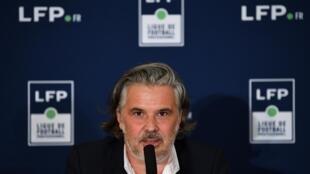 Vincent Labrune élu président de la Ligue de football professionnel (LFP), le 10 septembre 2020 à Paris