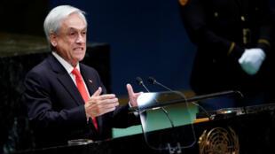 Le président chilien Sebastian Piñera, le 24 septembre 2019, à l'ONU.