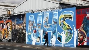 Street art in Belfast now lauds health service workers in the frontline of the fight against the coronavirus pandemic