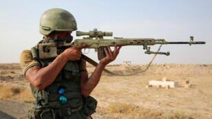 Un soldat russe lors de la lutte pour la province de Deir Ezzor, le 15 septembre 2017.