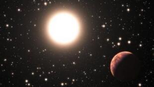 رسم نشره المرصد الأوروبي الجنوبي لأحد الكواكب التي تم اكتشافها في بداية العام