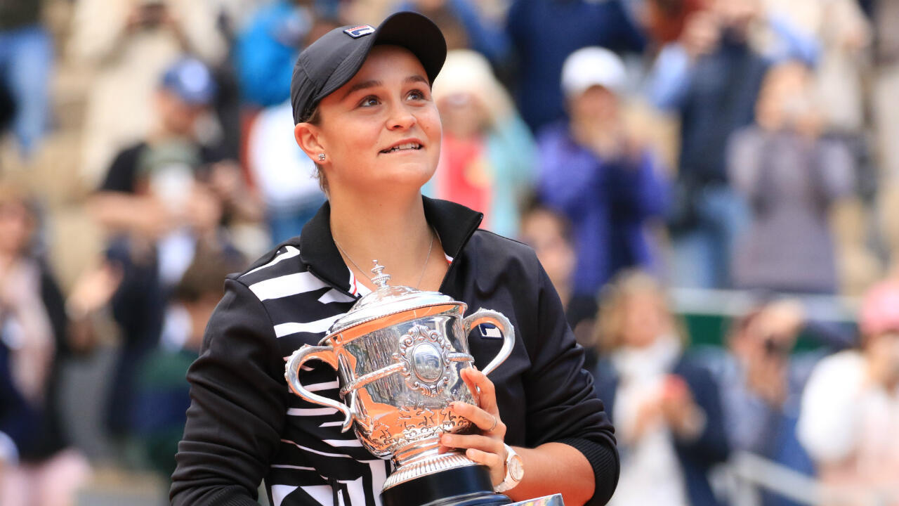 Ashleigh Barty, victorieuse en finale de Roland-Garros 2019.