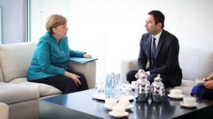 Benoît Hamon a été reçu par Angela Merkel à Berlin, mardi 28 mars 2017.