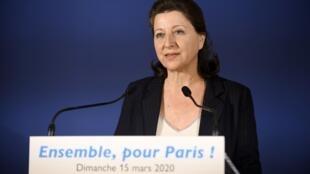 Agnès Buzyn après le premier tour des municipales à Paris, le 15 mars 2020