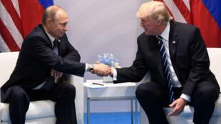 الرئيس الأمريكي دونالد ترامب نظيره الروسي فلاديمير بوتين