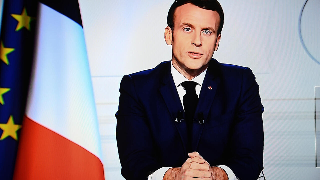 French President Emmanuel Macron delivers New Year's Eve address