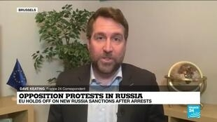 2021-01-25 17:06 EU holds off new sanctions against Russia over arrests during protests demanding Navalny liberation