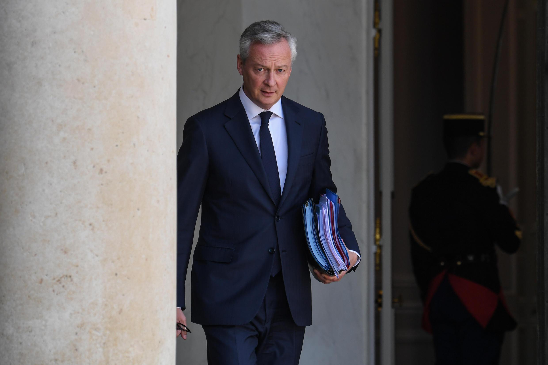 Le ministre de l'Économie, des Finances et de la Relance, Bruno Le Maire, le 22 juillet 2020, à l'Élysée.