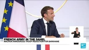 2021-06-11 12:07 Macron to reduce French military troops in Africa's Sahel