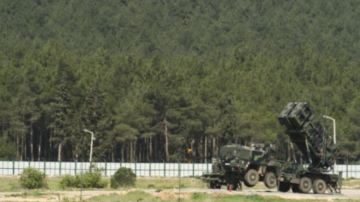 بطارية صواريخ باتريوت في منطقة كهرمانماراس في جنوب تركيا
