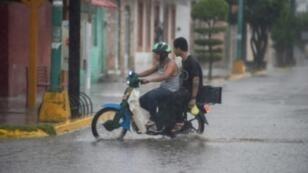 أمطار غزيرة في إسكوينابا في ولاية سينالوا